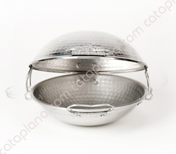 Traditional Aluminium Hammered Cataplana