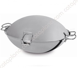 "Stainless Steel Cataplana ""Aroma"" - Thermic Flat Bottom"