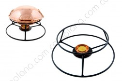 Cataplana Iron Stand w/ Copper Candle Support
