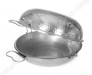 "Aluminium Hammered  Cataplana ""Gourmet"" - Flat Bottom"